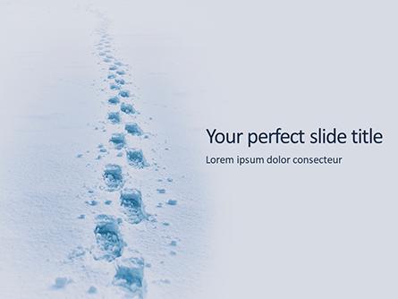 Footsteps in Snow Presentation Presentation Template, Master Slide