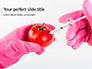 GMO Scientist Injecting Liquid from Syringe into Tomato Presentation slide 1