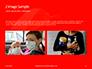 White Mask on Red Background Presentation slide 11