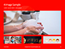 White Mask on Red Background Presentation slide 13