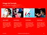 White Mask on Red Background Presentation slide 16