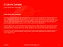 White Mask on Red Background Presentation slide 4