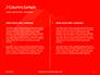 White Mask on Red Background Presentation slide 5