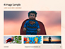 Strong Superhero Boy with Superpowers Presentation slide 13
