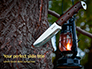 Knife in a Tree Trunk Presentation slide 1