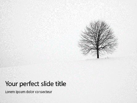 Alone Tree on a Winter Field Presentation Presentation Template, Master Slide