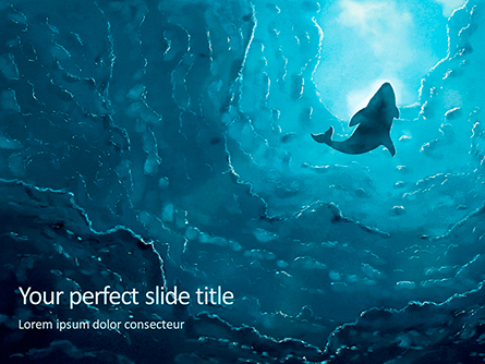 Deep Under the Ocean Presentation Presentation Template, Master Slide