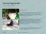 Wooden Sled on Snow Presentation slide 15