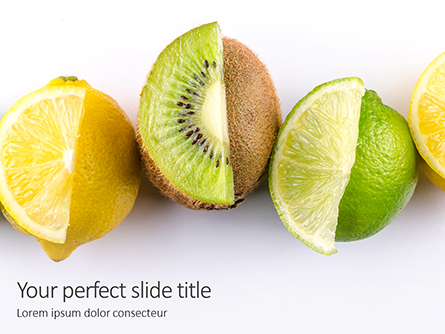 Sliced Tropical Fruits Presentation Presentation Template, Master Slide